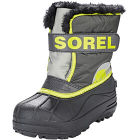 Sorel Kids Snow Commander Boots Dark Grey/Warning Yellow